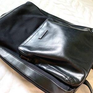 Tumi Leather & Nylon Black Backpack
